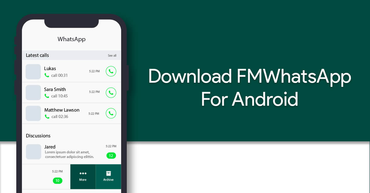 Download FMWhatsApp Latest Version 8.12 For Android 2019